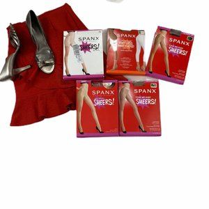Bundle of 5 SPANX Pantyhose Firm Believer Sheers A